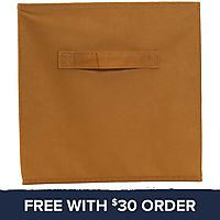 Tan Collapsible Storage Bin: Free With $30 Order