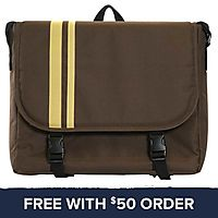 Brown Messenger Bag: Free With $50 Order
