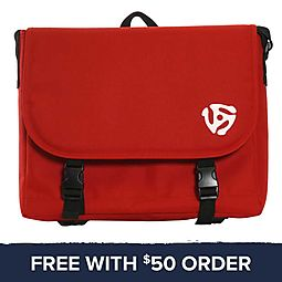 Red Messenger Bag: Free With $50 Order