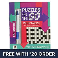 Puzzles On The Go Crossword Book: Free With $20 Order