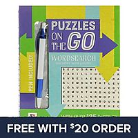 Puzzles On The Go Wordsearch 1 Book: Free With $20 Order