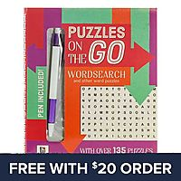 Puzzles On The Go Wordsearch 2 Book: Free With $20 Order