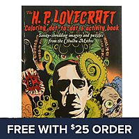 HP Lovecraft Coloring, Dot To Dot & Activity Book: Free With $25 Order