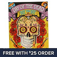 Day Of The Dead Dot To Dot Book: Free With $25 Order