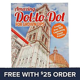 Amazing Dot To Dot Book For Grown-Ups: Free With $25 Order
